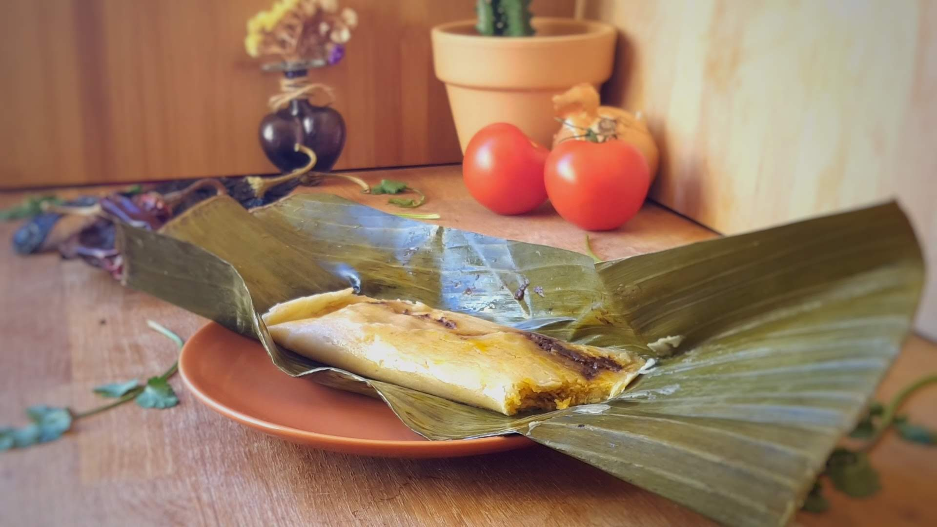 Chicken Tamales with Mole